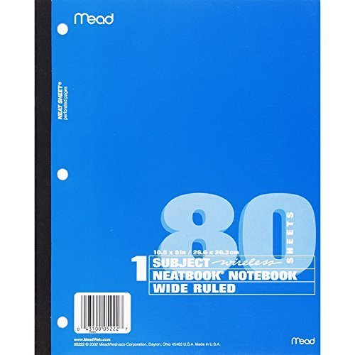 Sht Set (MEAD PRODUCTS LLC NOTEBOOK WIRELESS NEATBOOK 80 SHT (Set of 24) by Mead Products Llc)