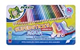 Jolly Supersticks Premium European Aqua Watercolor Pencils with Tin Carrying Case; Set of 36