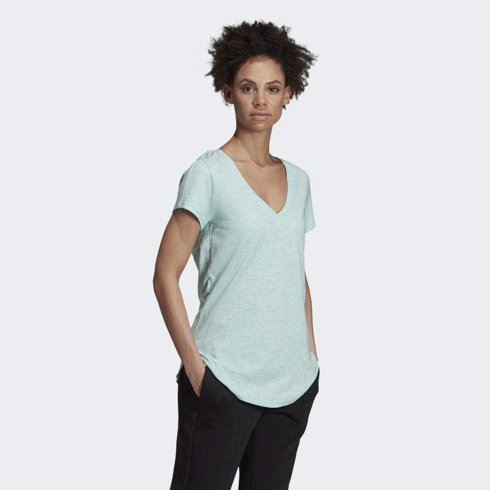 adidas T-Shirt pour Femme ID Winners V-NeckTee Vert (clear mint/legend ivy)