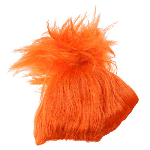 MonkeyJack Magic Fluffy Pixie Wig Women Girls Troll Elf Blaze Flame Wig Short Haircut Anime Wig Dressing Up Cosplay 8 Colors - Orange -