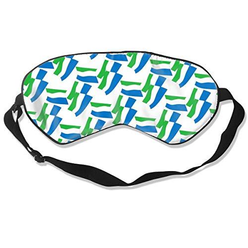 - BLDBZQ Sleep Eye Mask Sierra Leone Flag Mode Silk Mask with Adjustable Head Strap Block Light Nap Blindfold