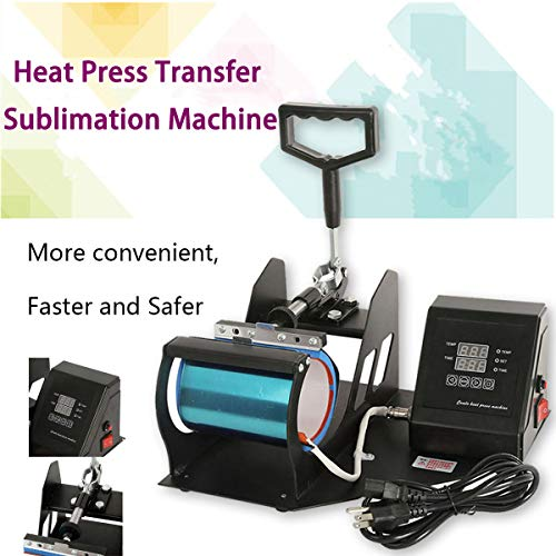 - XFMT Dual LCD Digital Transfer Sublimation Heat Press Machine Compatible with Coffee Cup Mug 11oz Heat Press Transfer Sublimation Machine Dual Digital Compatible with Cup 2019