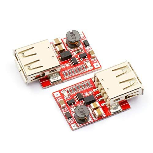 (DaFuRui 2pcs Mini DC Boost Converter Regulator Module,USB DC-DC Step up 3V to 5V 1A Convert Voltage Regulator Board for Mobile Phones、MP3、MP4 and PSP )