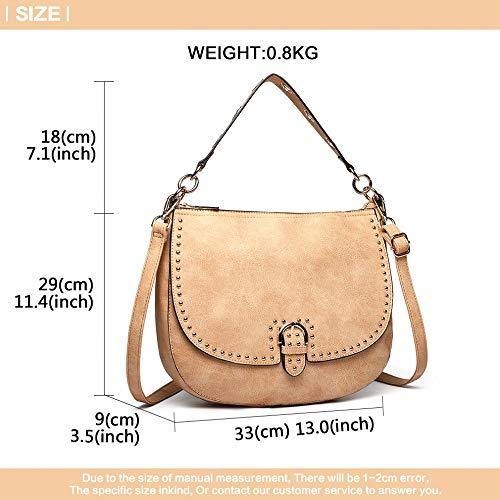 Mano De Gran Diseño Hobo Con Bolso Tamaño Hombro Messenger Bag 516Ewqxqdn