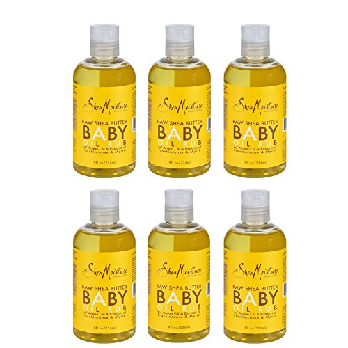 SheaMoisture Raw Shea Butter Baby Oil Rub,8 oz (6 Pack) by Shea Moisture Raw