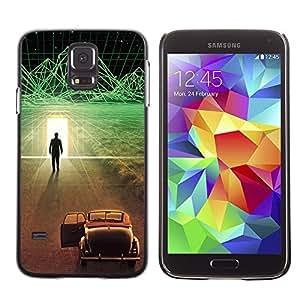 // PHONE CASE GIFT // Duro Estuche protector PC Cáscara Plástico Carcasa Funda Hard Protective Case for Samsung Galaxy S5 / Futurista Ciber coche /