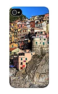 PC Shockproof/dirt-proof Cinque Terre Italy Rock House Building For Case Iphone 4/4S Cover