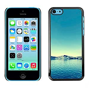 LECELL -- Funda protectora / Cubierta / Piel For Apple iPhone 5C -- Nature Blue Water --