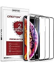 OMOTON Protector Pantalla iPhone XR Cristal Templado iPhone XR, Anti-Burbujas, Anti-despegamientos, Anti-arañazos, Cobertura Completa, Tecnología 3D, para 6.1 Pulgadas [2 Piezas]