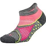 Balega Women's Enduro No Show Socks (1 Pair), Midgrey/Sherbet Pink, Small
