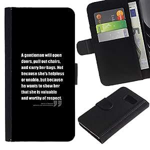 iBinBang / Flip Funda de Cuero Case Cover - Citar Texto Inspiring - Samsung Galaxy S6 SM-G920