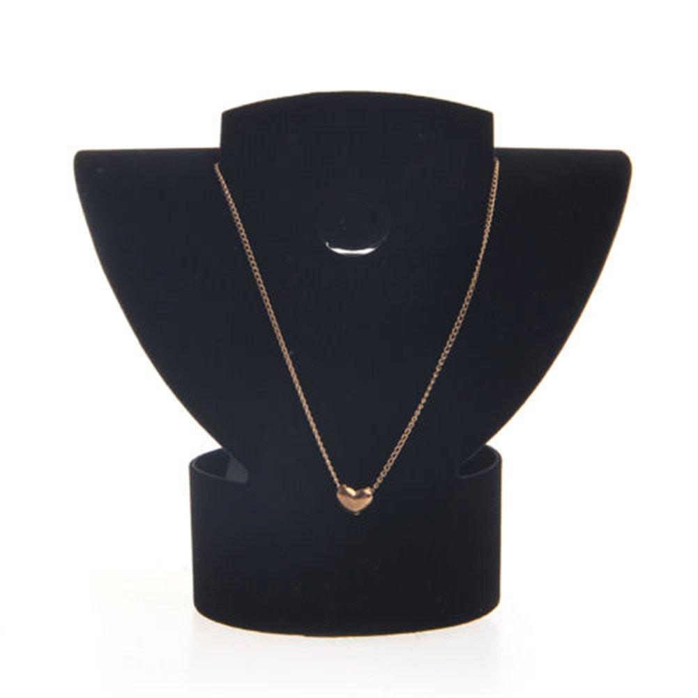 aretes expositor aretes Soporte plegable de terciopelo para joyas collares Homeofying
