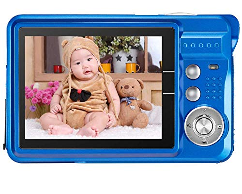"AbergBest 21 Mega Pixels 2.7"" LCD Rechargeable HD Digital Camera Video Camera Digital Students Cameras,Indoor Outdoor for Adult/Seniors/Kid (Blue) (Renewed)"