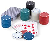 Ideas In Life Classic Poker Cards and Chip Set with Chips and Playing Cards for Texas Holdem Poker and Other Casino Games