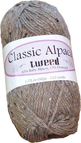 Classic Alpaca Tweed 85% Baby Alpaca 15% Donegal Yarn #286 - Weight Baby Dk Alpaca