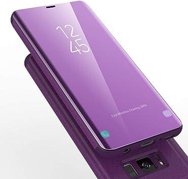AURSEN Case de Teléfono para Samsung Galaxy S8, Flip Cover Carcasa ...