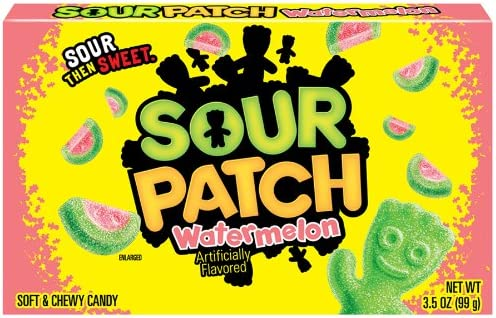Amazon Com Sour Patch Kids Candy Watermelon 3 5 Ounce Box Pack Of 12 Gummy Candy Grocery Gourmet Food