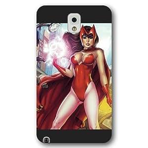 UniqueBox Customized Marvel Series Case for Samsung Galaxy Note 3, Marvel Comic Women Hero Scarlet Witch Samsung Galaxy Note 3 Case, Only Fit for Samsung Galaxy Note 3 (Black Frosted Case)
