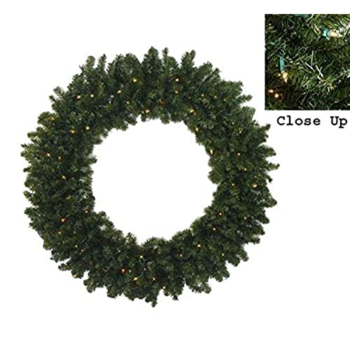 darice 60 pre lit commercial canadian pine artificial christmas wreath clear lights