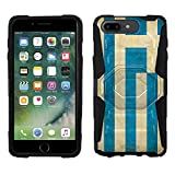 Apple iPhone 7 Plus Armor Hybrid Case Greek Vintage Flag 2 Piece Case with Holster for Apple iPhone 7 Plus