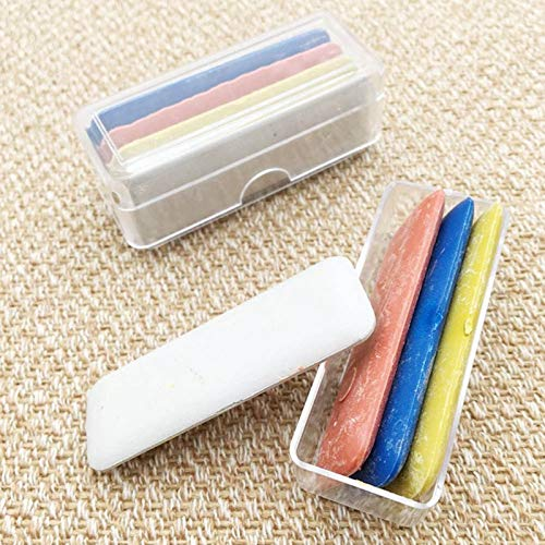 LALICORP 4pcs/box Colorful Erasable Fabric Tailors Chalk Fabric Patchwork Marker Clothing Pattern DIY Sewing Tool Needlework -