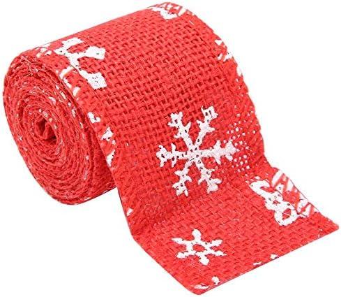 KEYREN Ribbon Christmas Wrapping Sackleinen DIY Dekoration Handwerk für Crafts Party(5cm Red)