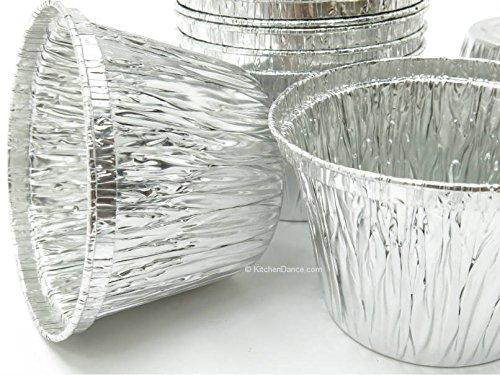 Disposable Aluminum 7 oz. Baking Cups/Cake Cups/Dessert Cups #1210NL (No lids) (1000)
