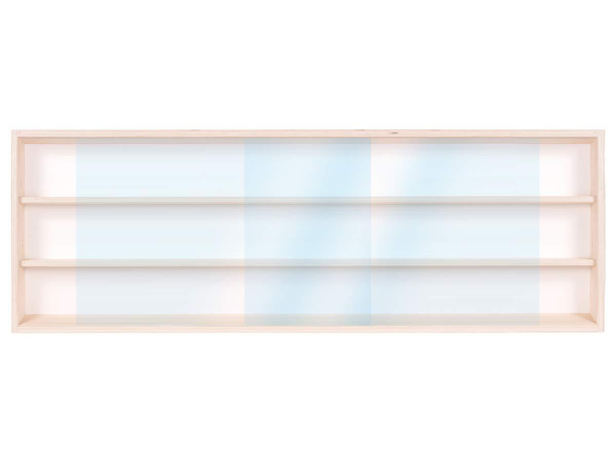 Vitrine Murale 100 x 30 x 8,5 cm Collection D/écoration Miniature Meuble Rangement /étag/ère Armoire Placard Bois Nature Moto collecteur Tableau daffichage Train pion V100.3A