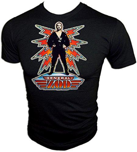 - Original 1980 D.C. Comics Superman II General Zod Movie Licensed Vintage Print Unused Black T-Shirt