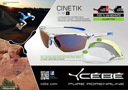 Cébé Sonnenbrille Cinetik Cristal Blue GkAEa