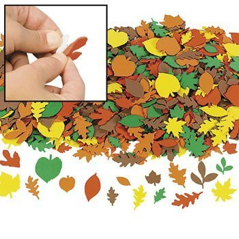 Foam Fall Leaf Shapes - 500 pc - Craft Leaves by Fun Express