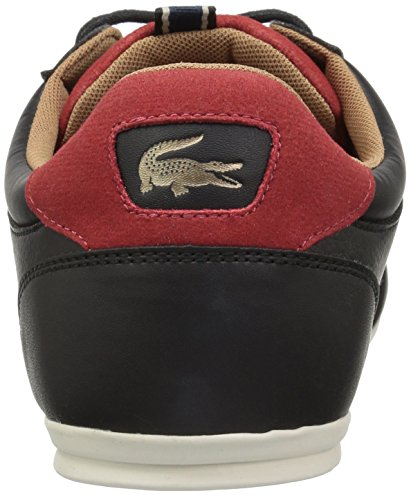 Lacoste Men's Chaymon Sneakers,Black/Red Synthetic,9.5 M US