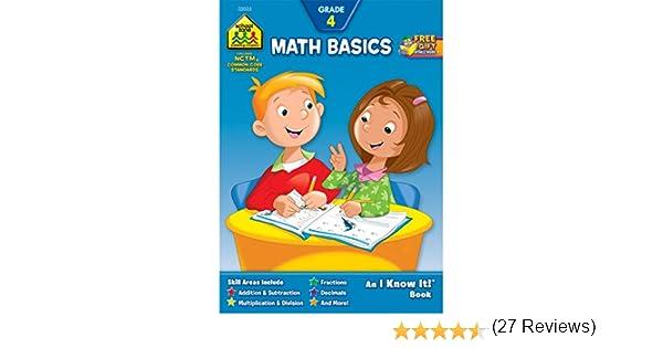 Amazon.com: Math Basics Grade 4 (I Know It! Books) (9780938256335 ...