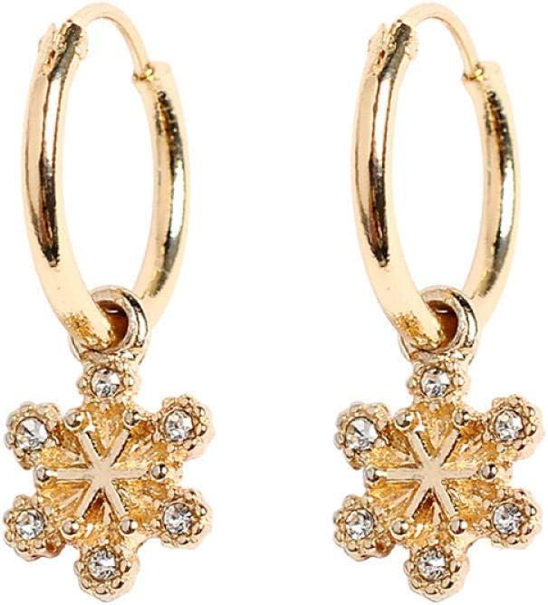 Erin Earring Pendientes De Anillo De Diamantes De Imitación Transparentes De Flores Geométricas Doradas Pendientes De Señoras De Moda Joyería De Moda 1 Par