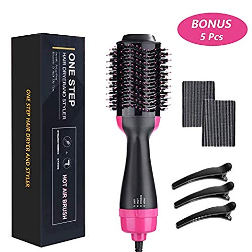 Hair Dryer Brush, OUZIFISH Dry & Straighten & Curl in One Step Hair Dryer and Volumizer, Smooth Frizz with Ionic Technology