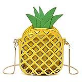 MILATA Fruit Pineapple Shaped Women Pu Leather Clutch Purse Cross Body Bag (yellow)