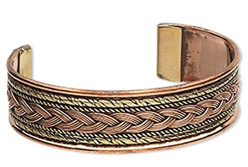 Copper Cuff Design - Copper Cuff Wrist Wire Bracelet Handmade -TWISTED WIRE PATTERN