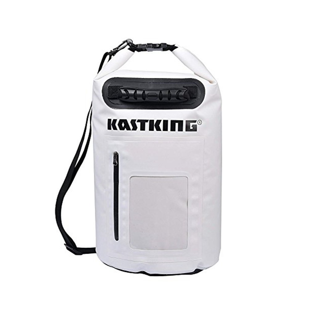 Dry Bag 30L - Waterproof Swim Bag Fishing Bags Beach Bag - Roll Top Sack Keeps Gear Dry for Kayaking and Boating or Fishing(White)