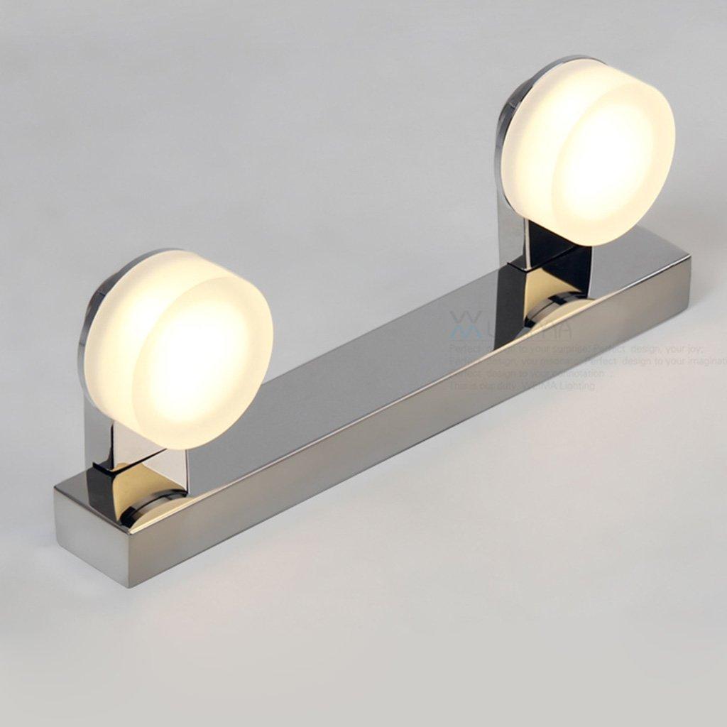 &Spiegelleuchte Edelstahl LED Spiegel Frontleuchten, Badleuchten Anti-Fog FeuchtigkeitsBesteändige Leuchten, Make-up Lights (Farbe   Weiß-6w32cm)
