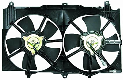51Ff6mfWfRL._SX425_ amazon com dual radiator cooling fan assembly for nissan 350z