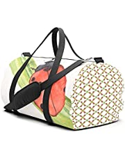 Ladybird on a Blade of Grass Travel Sport Barrel Duffle Bag