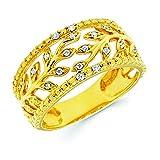 14K Yellow Gold .10 Cttw. Diamond Fashion Ivy Band Ring