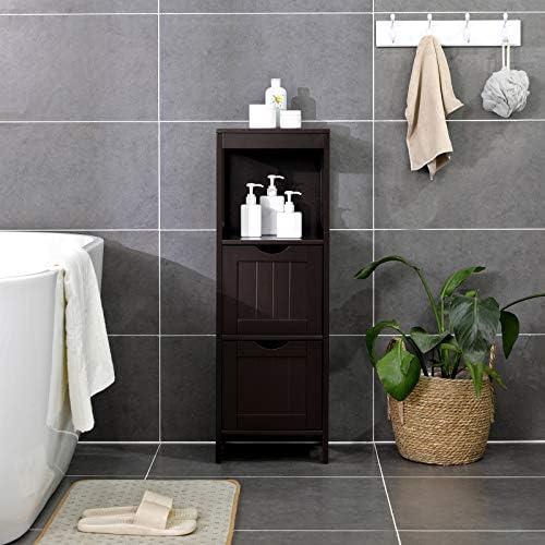 home, kitchen, furniture, accent furniture,  storage cabinets 8 picture VASAGLE Floor Cabinet, Bathroom Storage Organizer Rack Stand in USA