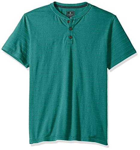 's Jack Mountain Textured Jersey Short Sleeve Henley, Queztel Green, 2X-Large ()