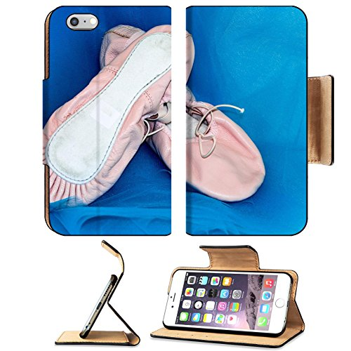 Luxlady Premium Apple iPhone 6 Plus iPhone 6S Plus Flip Pu Leather Wallet Case IMAGE ID: 24425092 Young ballerina dancing shoes - Ballroom Costume Maker