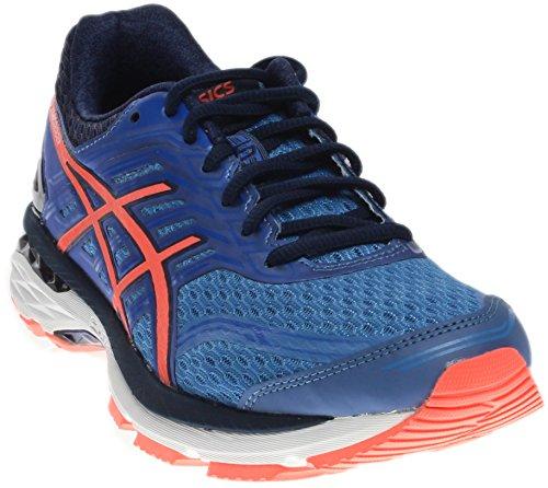 ASICS Women's GT-2000 5 Running-Shoes, Regatta Blue/Flash Coral/Indigo Blue, 9 Medium US