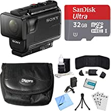 Sony HDR-AS50/B Full HD Action Cam Bundle includes HDR-AS50/B Action Cam, Battery, 32GB microSD Memory Card, Case, Card Reader, Card Wallet, Mini Tripod, Cleaning Kit, Beach Camera Cloth and More!