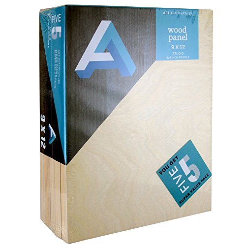 Art Alternatives Wood Panel Super Value 9x12 Pack of 5 by Art Alternatives
