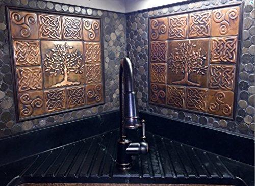 Backsplash Copper (SET OF 26 COPPER TILES , copper backsplash, copper kitchen, copper wall art)
