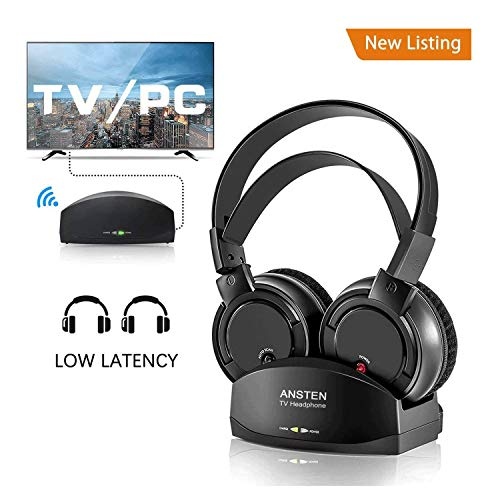 71c05a79093 Wireless Headphones for TV With Charging Dock,over the Ear Stereo Headset  with RF Transmitter